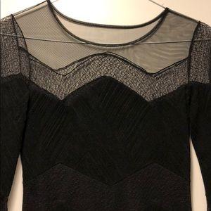 BCBG MaxAzria illusion camila dress